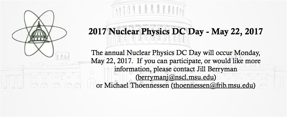 Nuclear Physics DC Day 2017
